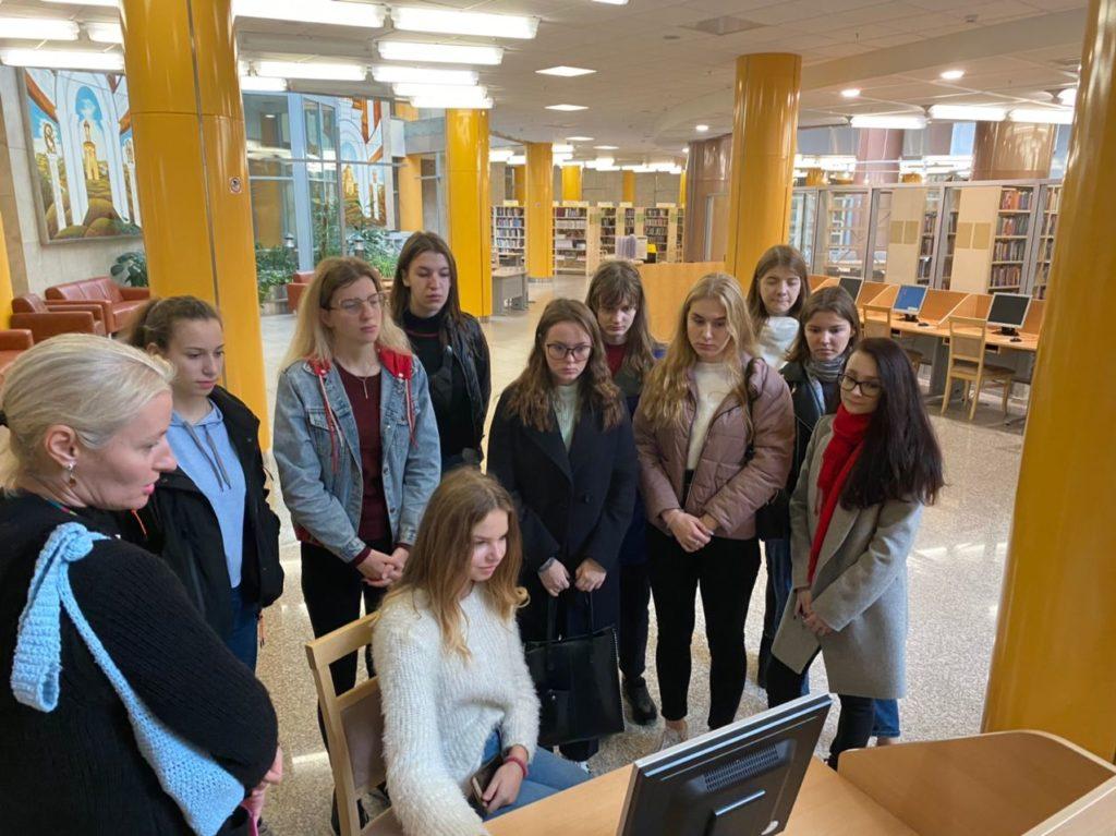 Посещение Национальной библиотеки студентами БГТУ